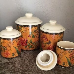 """Vintage"" 4 piece canister set by Pamela Gladding"